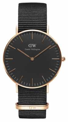 Daniel Wellington Unisex Classic Cornwall 36mm Black DW00100150