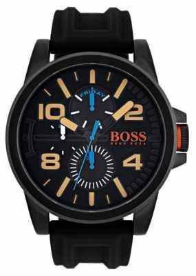 Hugo Boss Orange Mens Detroit Black Rubber Strap 1550011