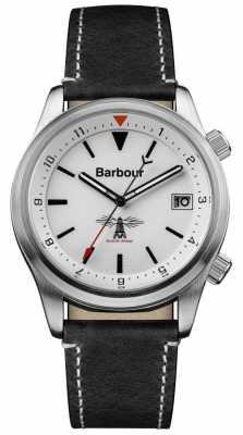 Barbour Mens Seaburn White Black Leather BB059WHBK