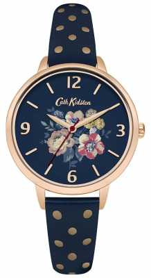Cath Kidston Womans Navy Floral Polka Dot CKL004URG
