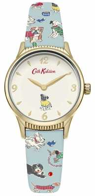 Cath Kidston Womans Dogs Pale Blue CKL011UG