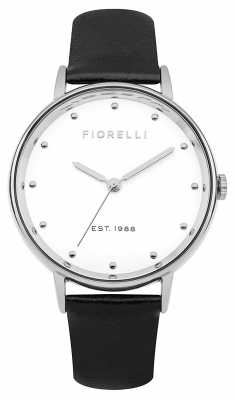 Fiorelli Womans Black Bracelet Watch Gift Set FO032BSG