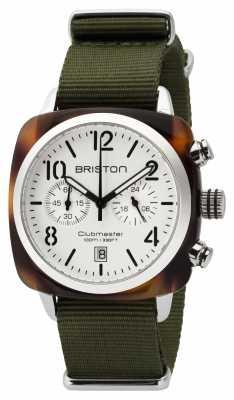 Briston Mens Clubmaster Classic Acetate Chrono Tortoise Shell White 16140.SA.T.2.NGA