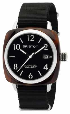 Briston Mens Clubmaster Classic Acetate HMS Tortoise Shell Black 16240.SA.T.1.NB