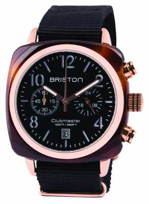Briston Mens Clubmaster Classic Acetate Chrono Black 14140.PRA.T.1.NB