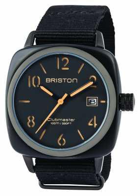 Briston Mens Clubmaster Classic Acetate HMS Black Matte 14240.PBAM.B.4.NB