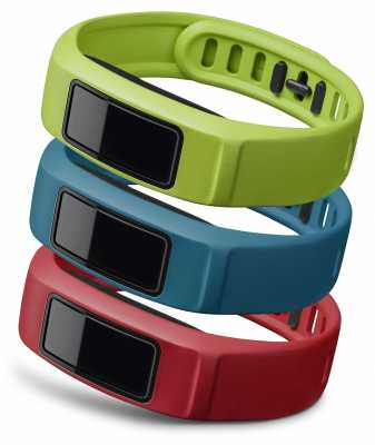 Garmin Red, Teal, Green Vivofit 2 Bands L 010-12336-02