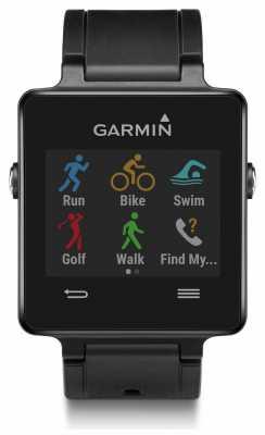 Garmin Unisex Vivoactive GPS Smartwatch HR Bundle Black 010-01297-10