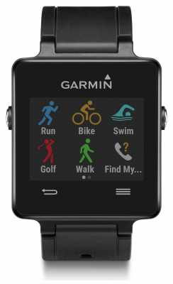 Garmin Unisex Vivoactive GPS Smartwatch Black 010-01297-00