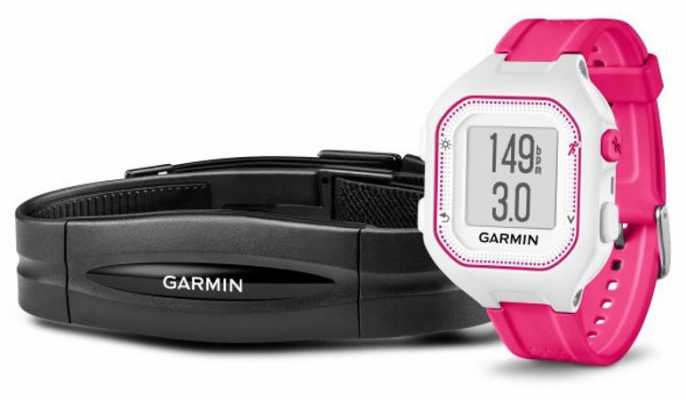 Garmin Unisex Forerunner 25 HR Bundle Pink White 010-01353-71