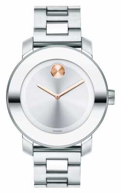 Movado bold Midsize K1 Crystal stainless steel 3600084