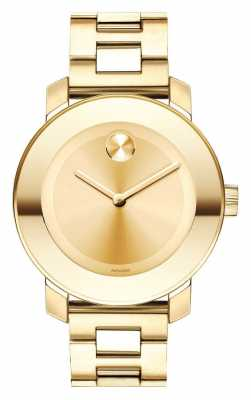 Movado bold Midsize Yellow Gold Ion-plated K1 Crystal 3600085