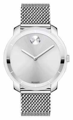 Movado bold Midsize Stainless Steel Mesh Bracelet K1 Crystal 3600241