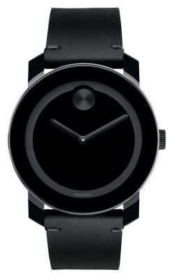 Movado bold Large Black TR90 Composite Black Dial 3600306