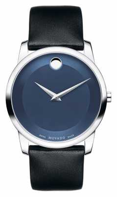 Movado Men's Museum Classic Stainless Steel Blue Museum Dial 0606610