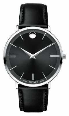 Movado Men's Movado Ultra Slim Stainless Steel Black Dial 0607086