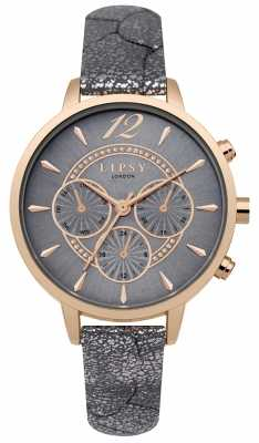 Lipsy Womans Grey PU Strap Grey Dial LP507