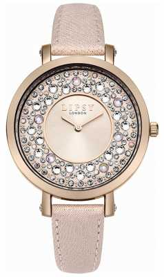 Lipsy Womans Pink PU Strap Pink Dial LP492