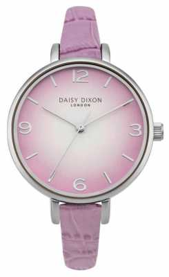 Daisy Dixon Womans Millie Lilac Croc Effect DD041V