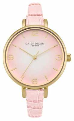Daisy Dixon Womans Millie Pink Croc Effect DD041P