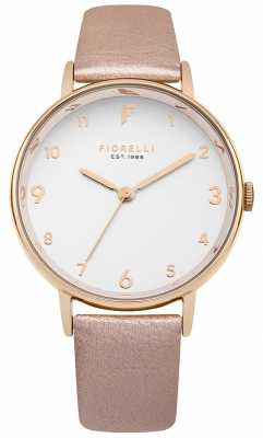 Fiorelli Womans Rose Gold Metallic Strap White Dial FO037RG