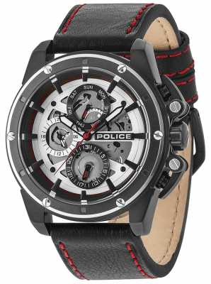 Police Mens splinter multifunctionele date zilver 14688JSBS/04