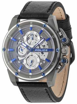 Police Mens SPLINTER multi-fonctions Date grise 14688JSUS/13