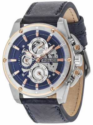Police Mens Splinter Multi-function Date Dark Blue 14688JSTR/03