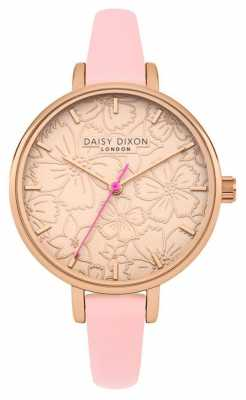 Daisy Dixon Womans Phoebe Floral Printed Dial Rose Gold DD042P
