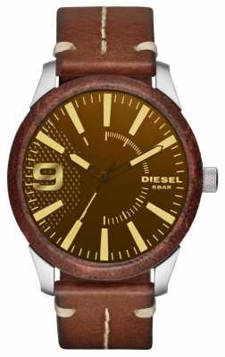 Diesel Mens Rasp Brown Leather Strap DZ1800