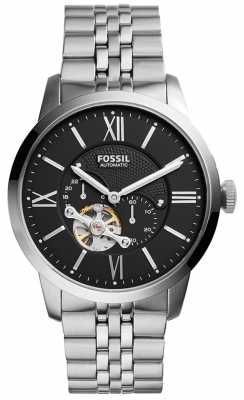 Fossil Mens Automatic Mechanical Black Dial ME3107