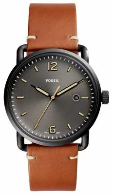 Fossil Mens Commuter Brown Leather Grey Dial FS5276