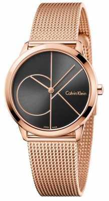 Calvin Klein Womans Minimal Rose Gold Mesh K3M22621