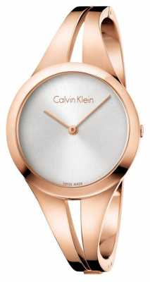 Calvin Klein Womans Addict Rose Gold Toner Bangle K7W2S616