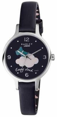 Radley Womans Silver Lining Navy Leather RY2479