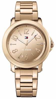 Tommy Hilfiger Womans Stainless Steel Rose Gold Bracelet 1781752