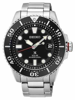 Seiko Mens Prospex Solar Divers Metal Bracelet SNE437P1