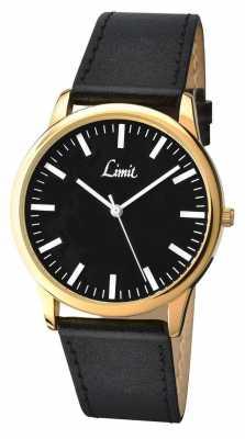 Limit Gents Black Leather Watch 5609