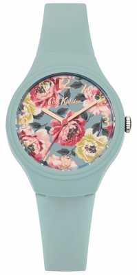 Cath Kidston Womans Teal Silicone Strap Floral Printed Dial CKL029AU