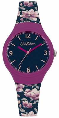 Cath Kidston Womans Navy Floral Printed Silicone Strap CKL028UP