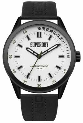 Superdry Mens Regent Corporal Black Leather SYG207BB