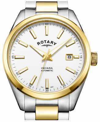 Rotary Mens Havana Automatic Two Tone GB05078/02
