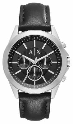 Armani Exchange Mens Leather Black Chronograph AX2604