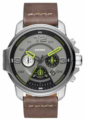 Diesel Mens Whiplash Grey Chronograph DZ4433
