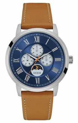 Guess Mens Delancy Chronograph Tan Leather W0870G4
