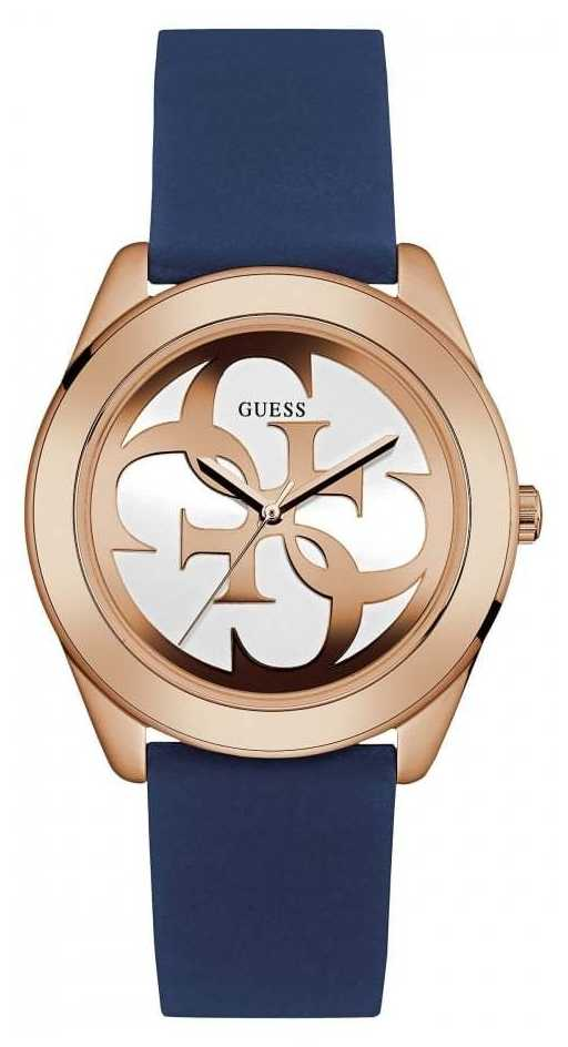Guess Womens G Twist Blue Strap Watch W0911L6