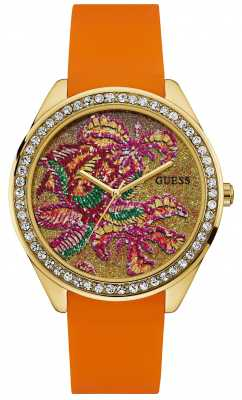 Guess Womens Getaway Orange Strap W0960L2