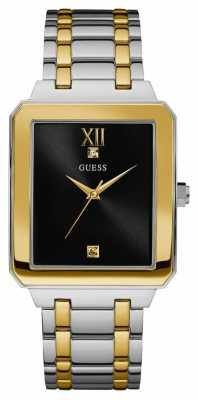Guess Mens Highrise Two Tone Black Dial W0917G3