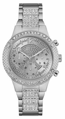 Guess Womens Rockstar Stainless Steel Silver Dial W0850L1