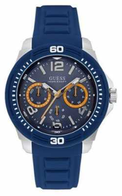 Guess Mens Tread Blue Strap Blue Dial W0967G2